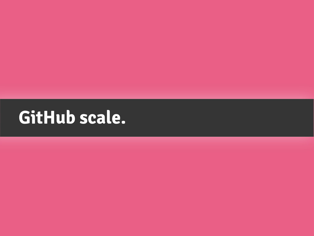 GitHub scale.