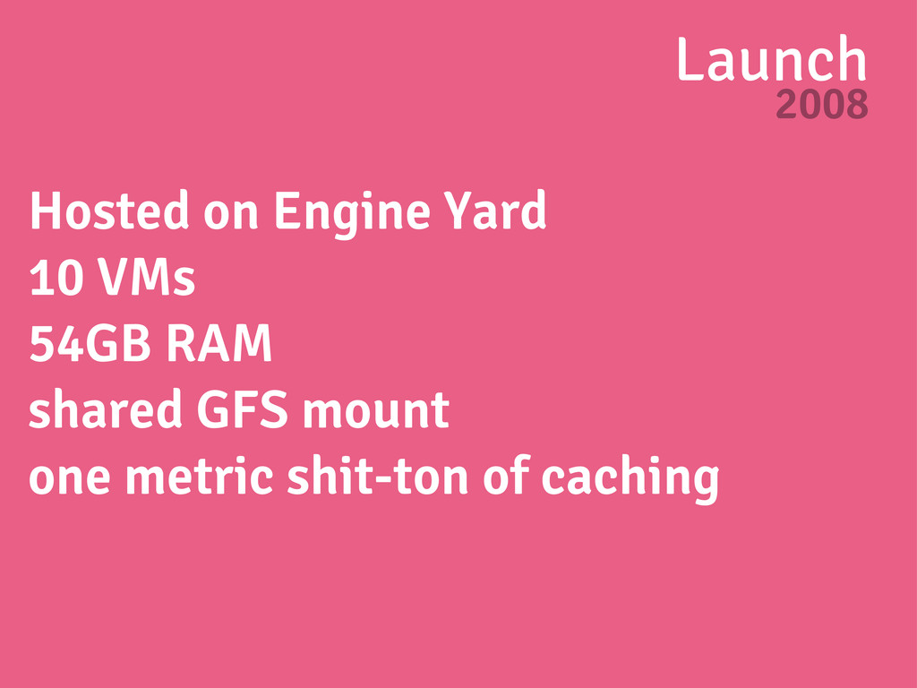 Launch 2008 Hosted on Engine Yard 10 VMs 54GB R...
