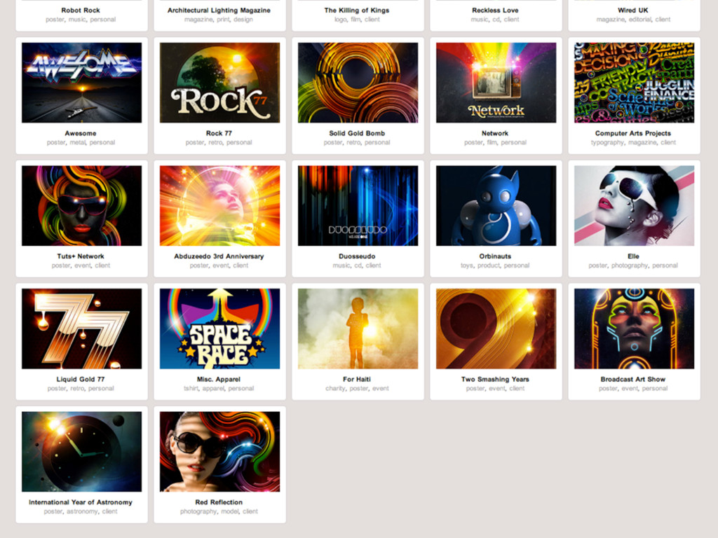 Signalnoise Selection of his work.