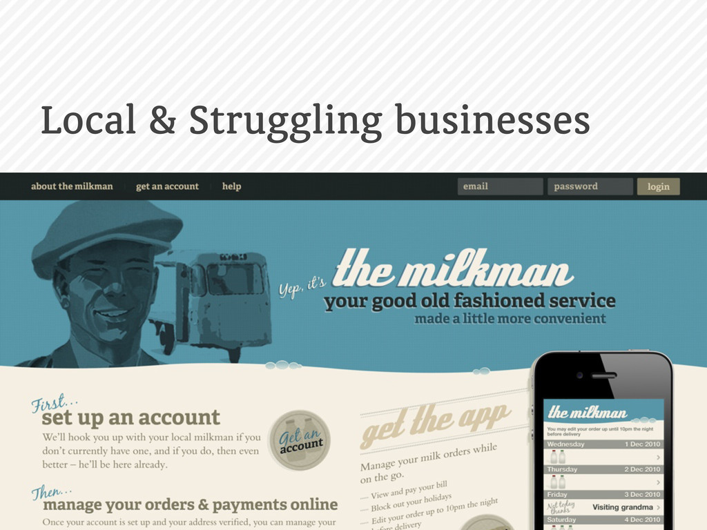 Local & Struggling businesses