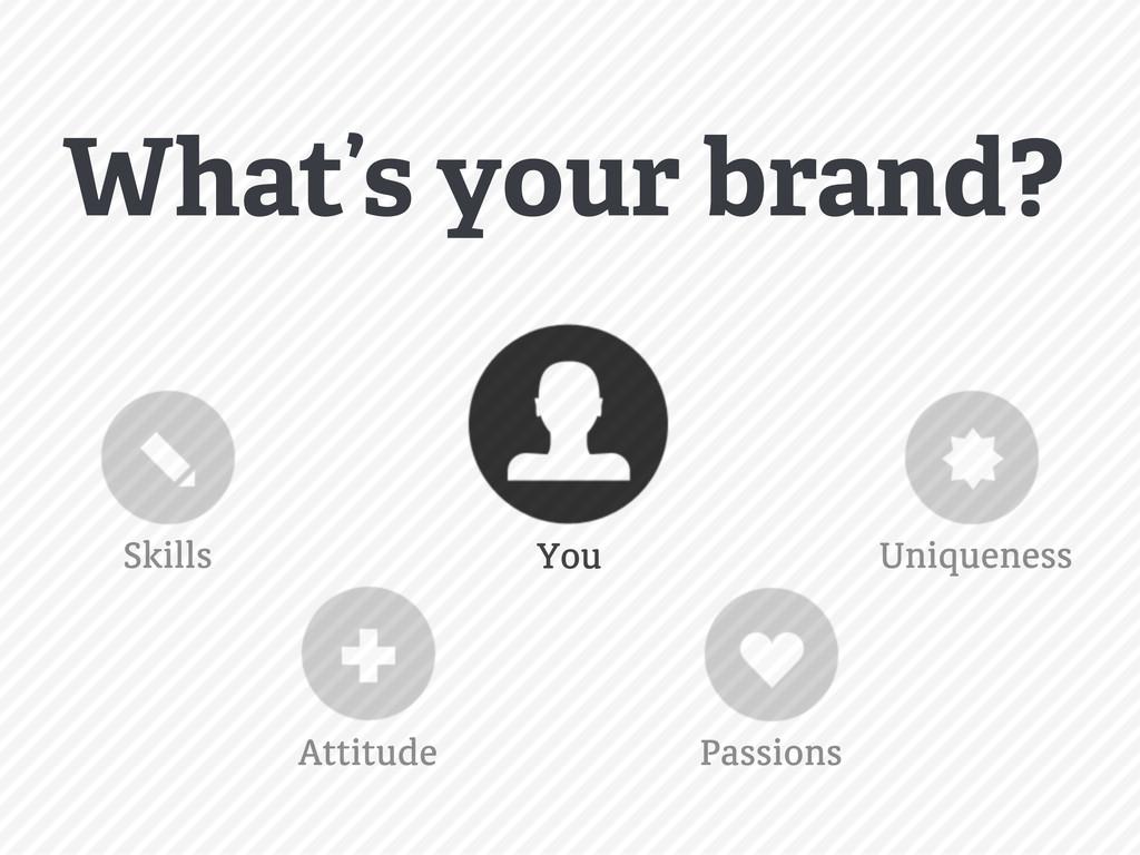 You Skills Uniqueness Passions Attitude What's ...