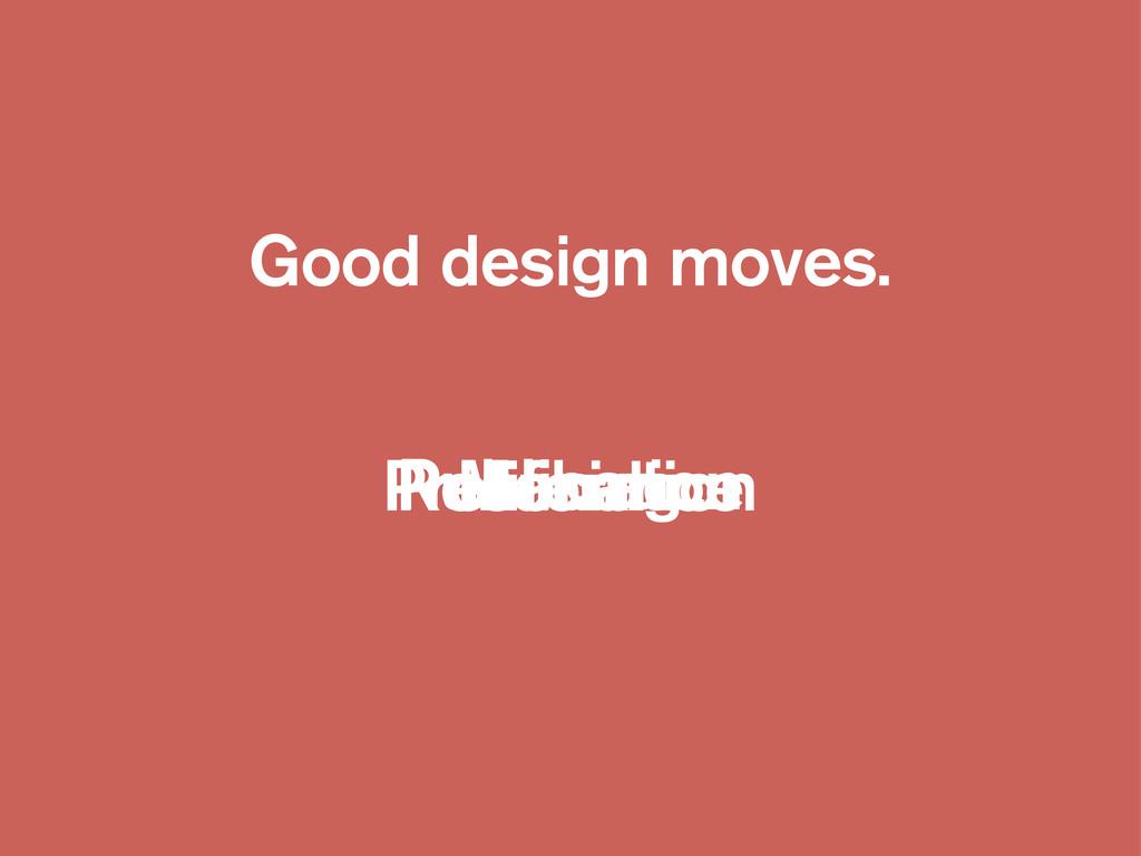 Good design moves. Making Resonance Publication...