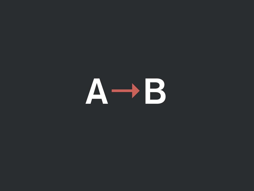 A B →