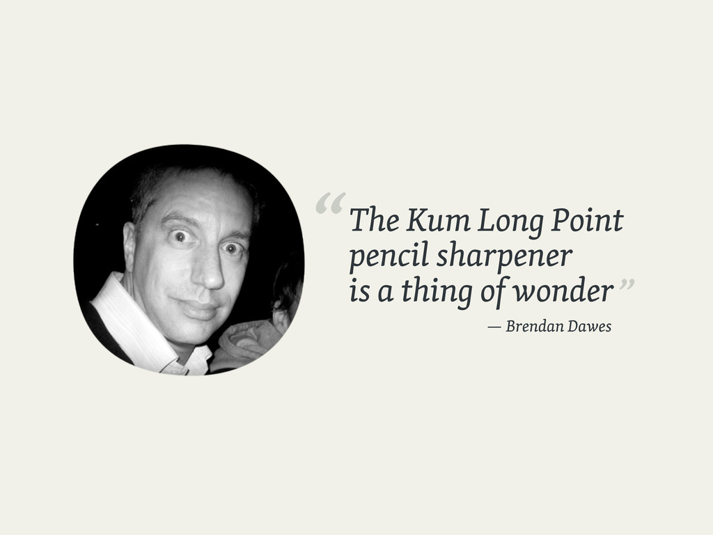 The Kum Long Point pencil sharpener is a thing ...