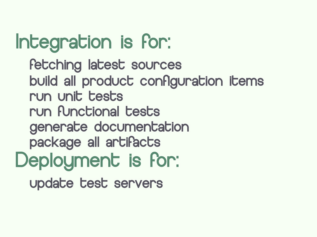 Integration is for: fetching latest sources bui...