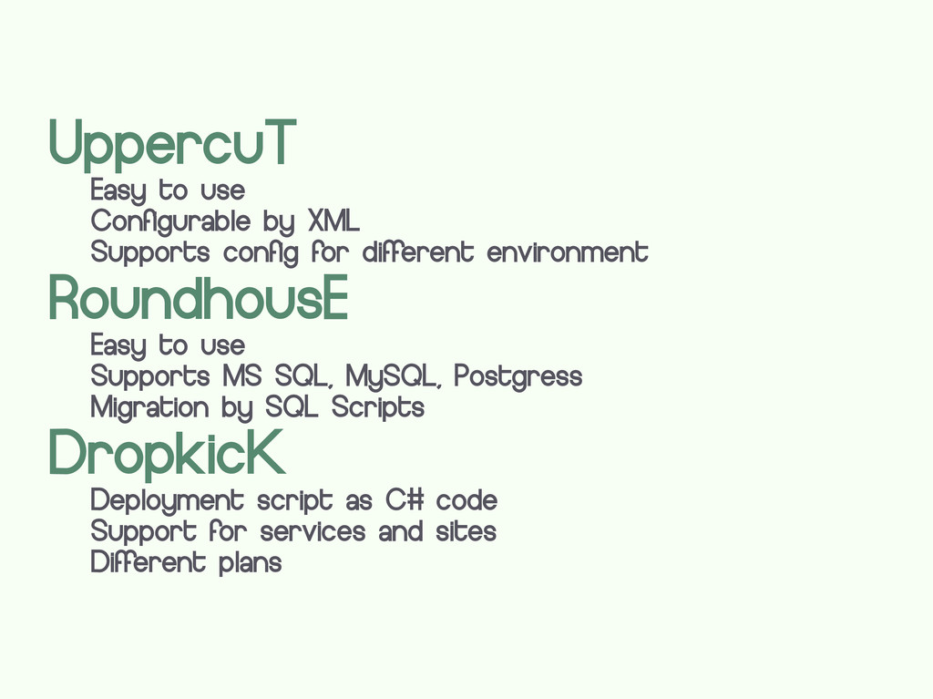 UppercuT Easy to use Configurable by XML Suppor...