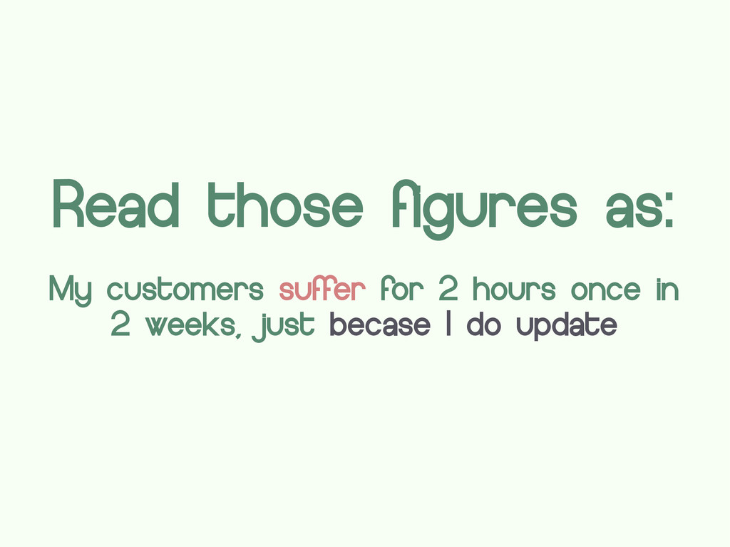 Read those figures as: My customers suffer for ...