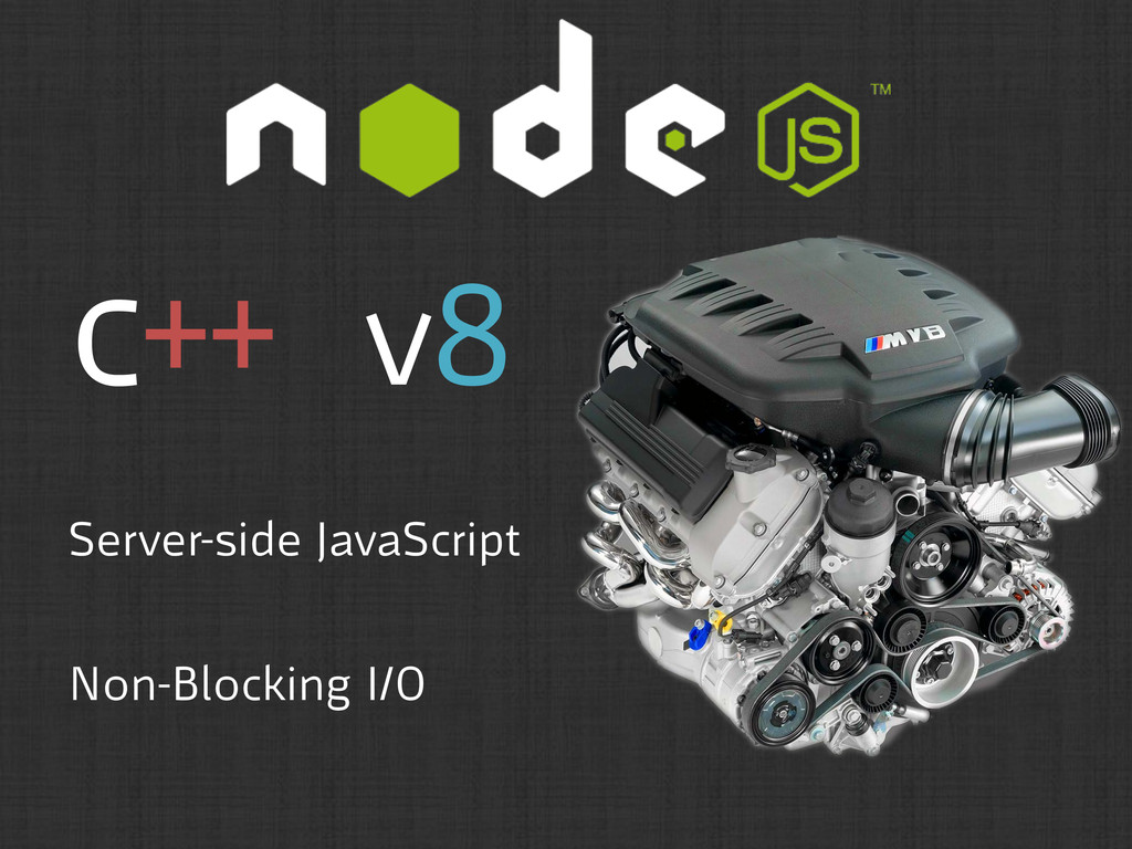 c++ v8 Server-side JavaScript Non-Blocking I/O
