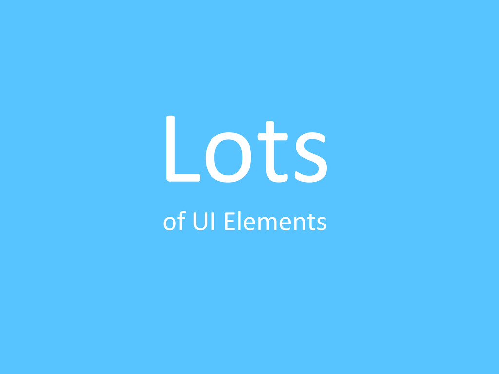 Lots	