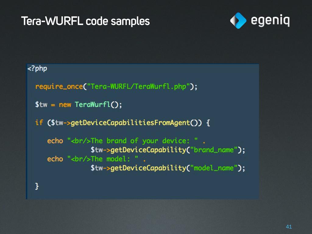Tera-WURFL code samples 41
