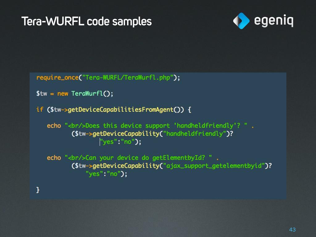Tera-WURFL code samples 43