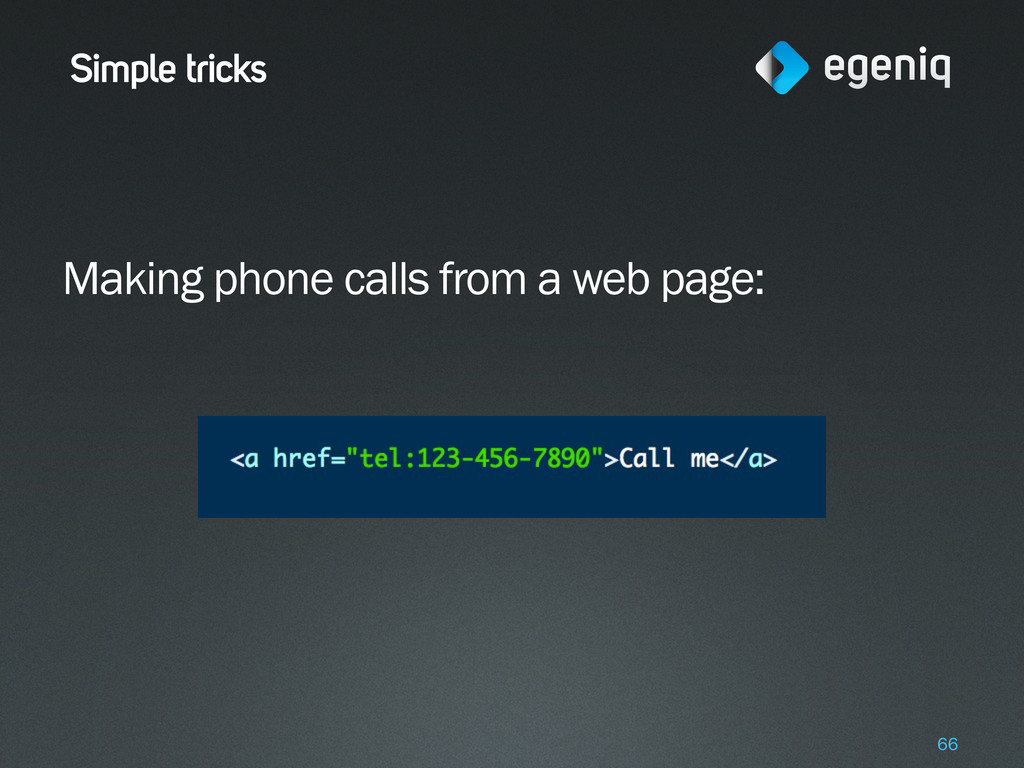Simple tricks Making phone calls from a web pag...