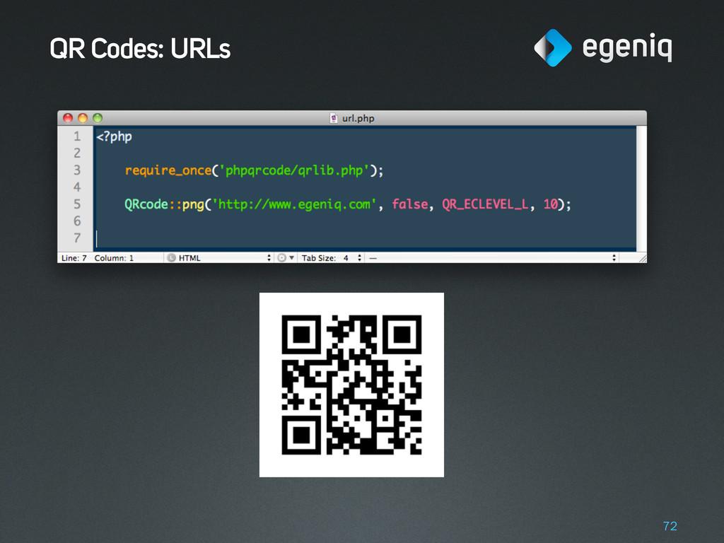 QR Codes: URLs 72