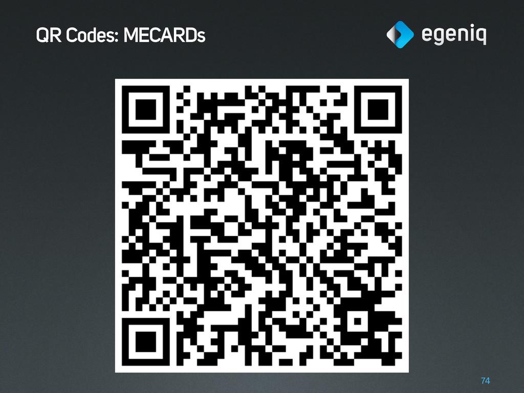 QR Codes: MECARDs 74