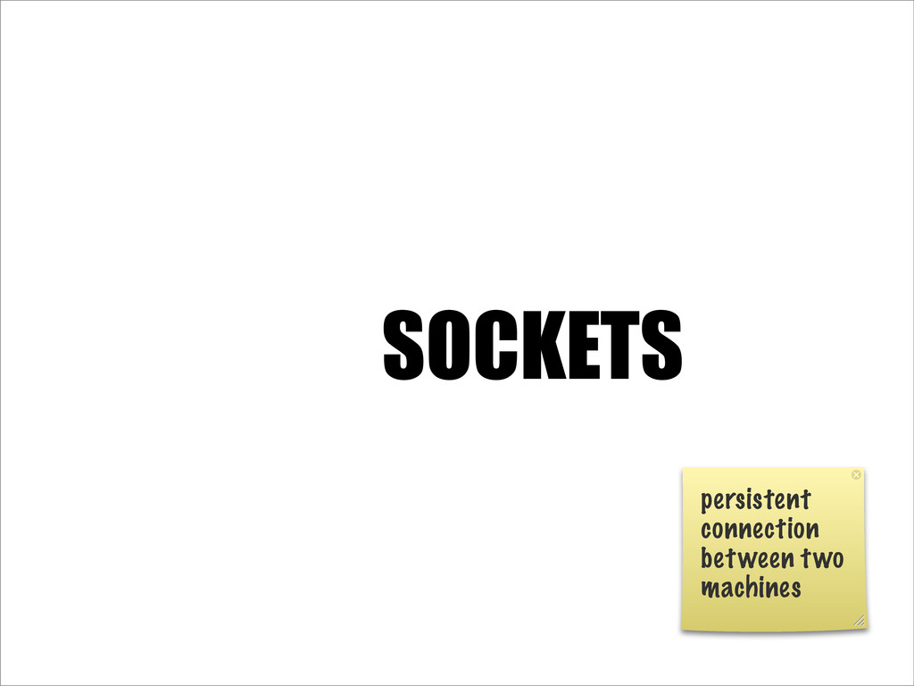 SOCKETS persistent connection between two machi...
