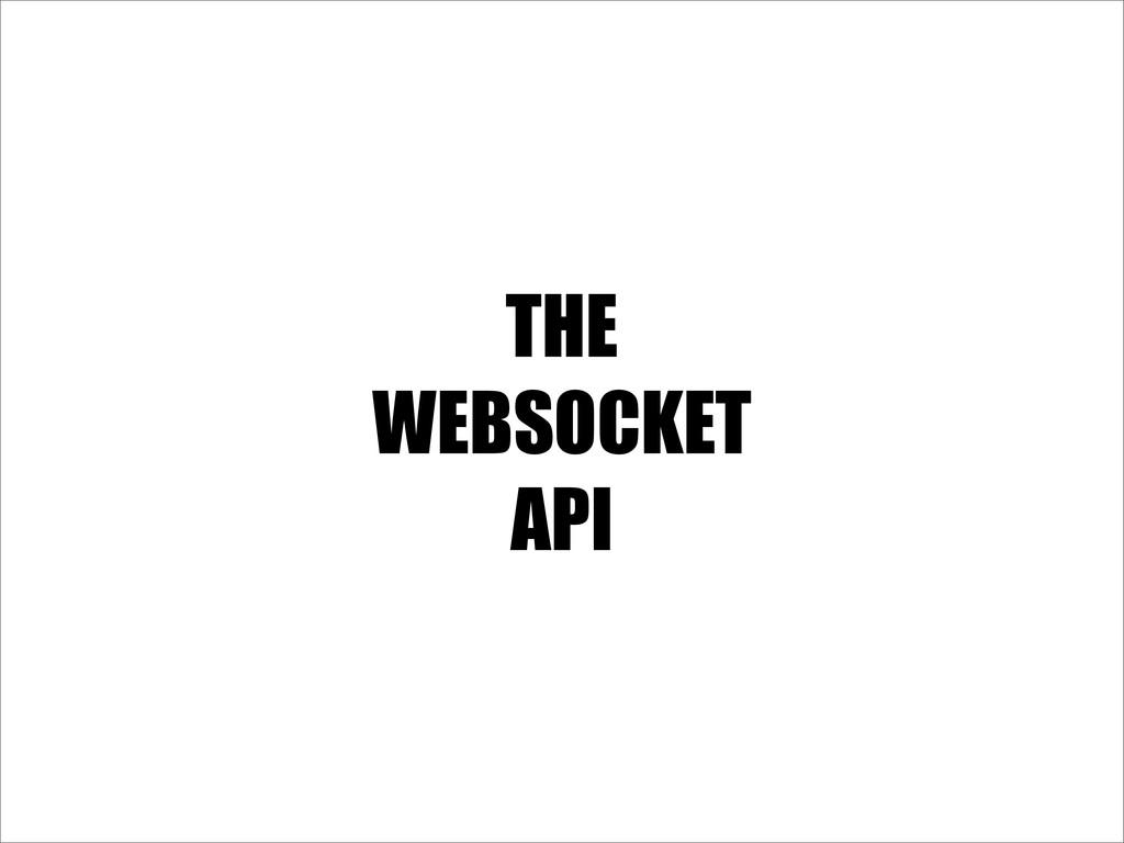 THE WEBSOCKET API