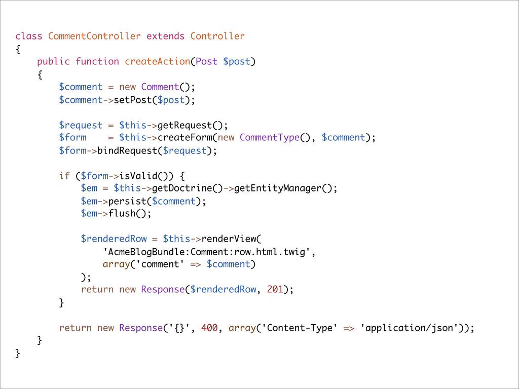 class CommentController extends Controller { pu...