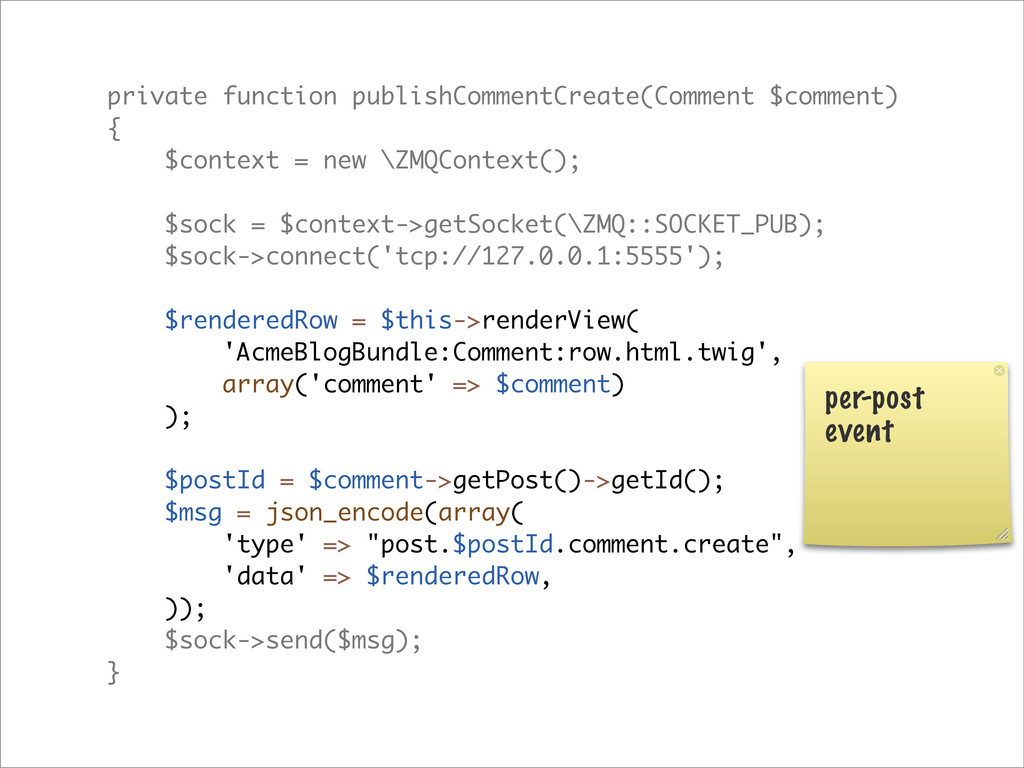private function publishCommentCreate(Comment $...