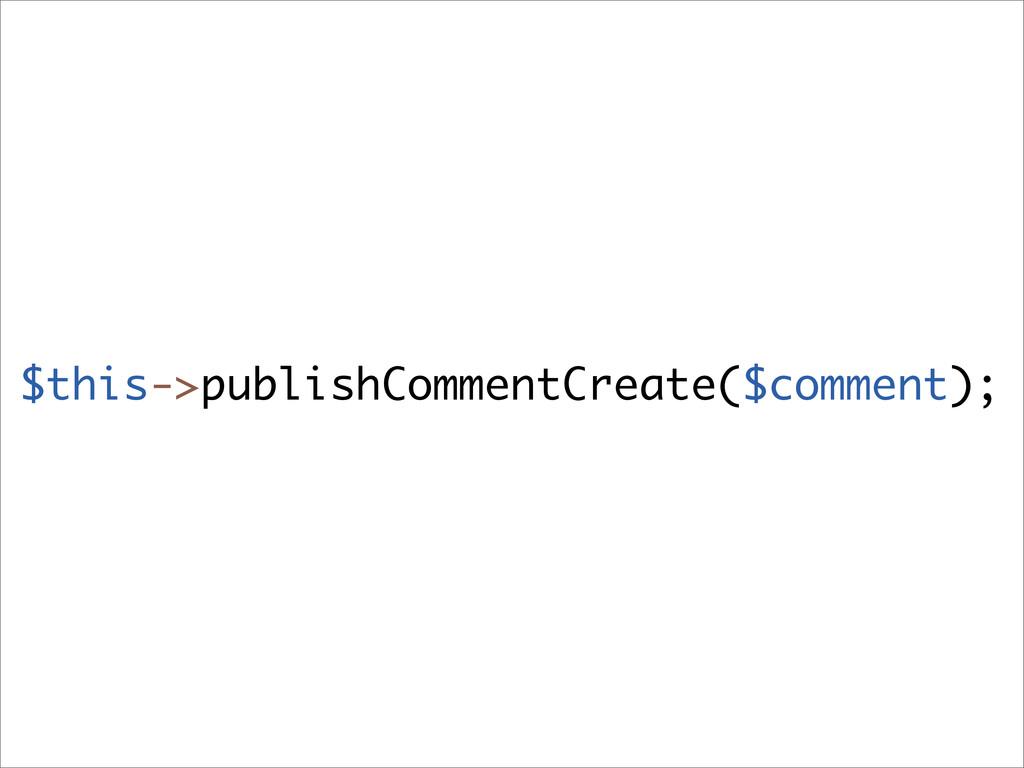 $this->publishCommentCreate($comment);
