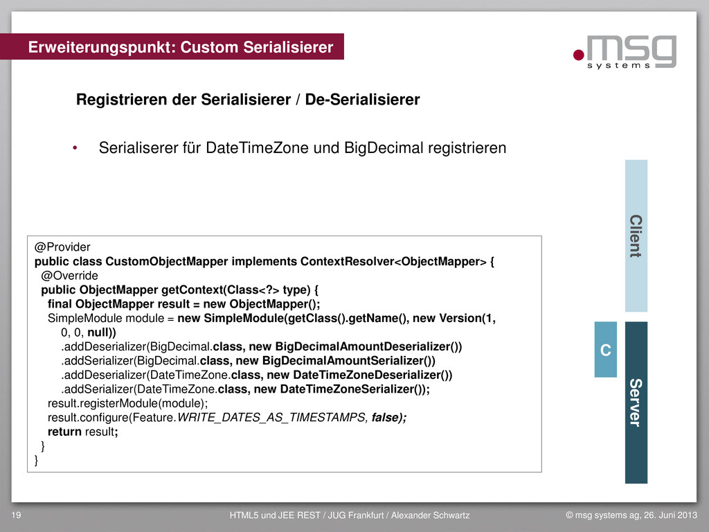 © msg systems ag, 26. Juni 2013 HTML5 und JEE R...