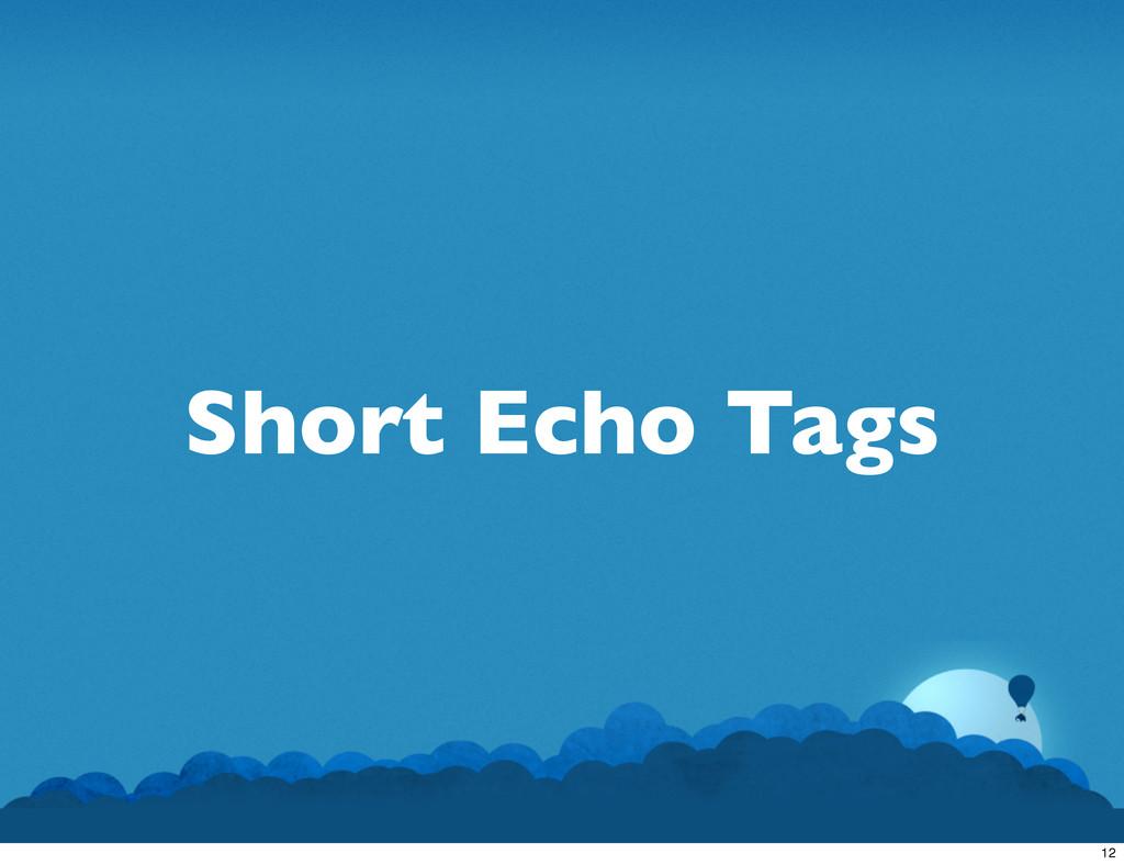 Short Echo Tags 12