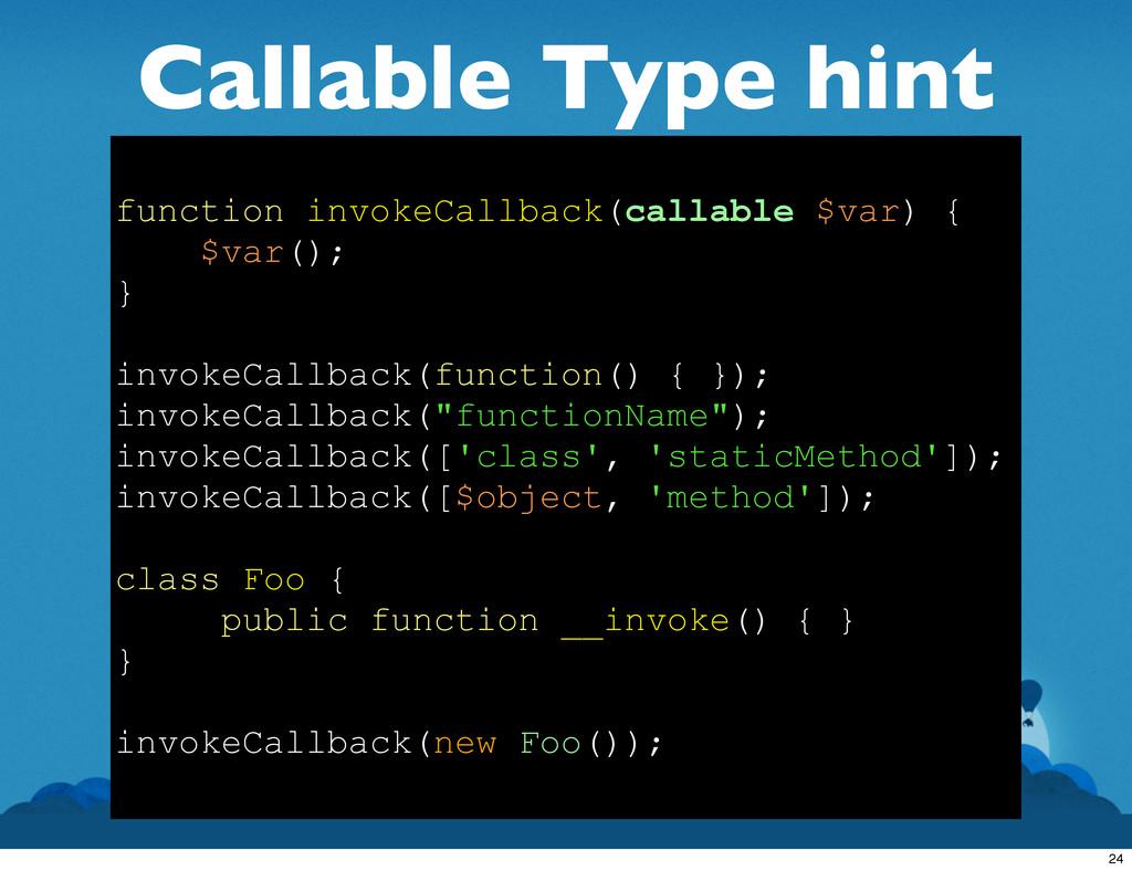Callable Type hint function invokeCallback(call...