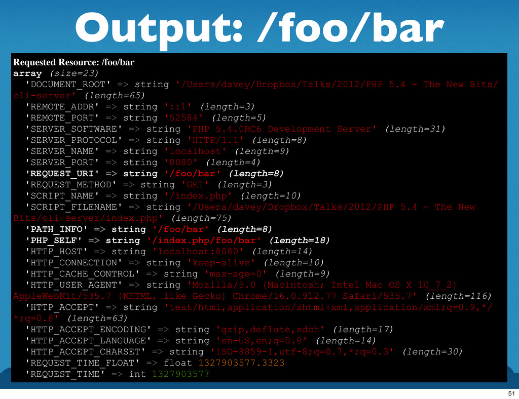 Output: /foo/bar Requested Resource: /foo/bar a...