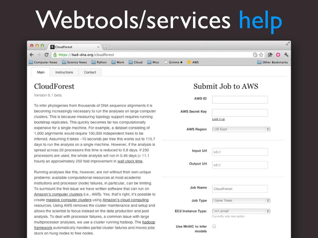 Webtools/services help