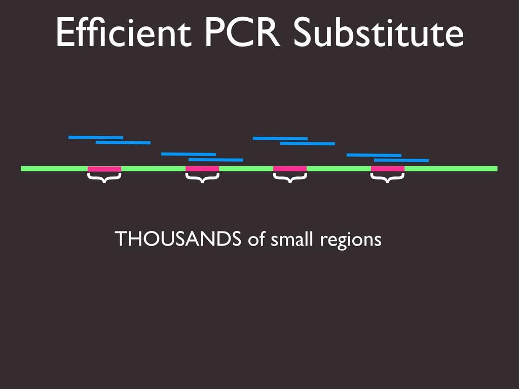 Efficient PCR Substitute THOUSANDS of small regi...