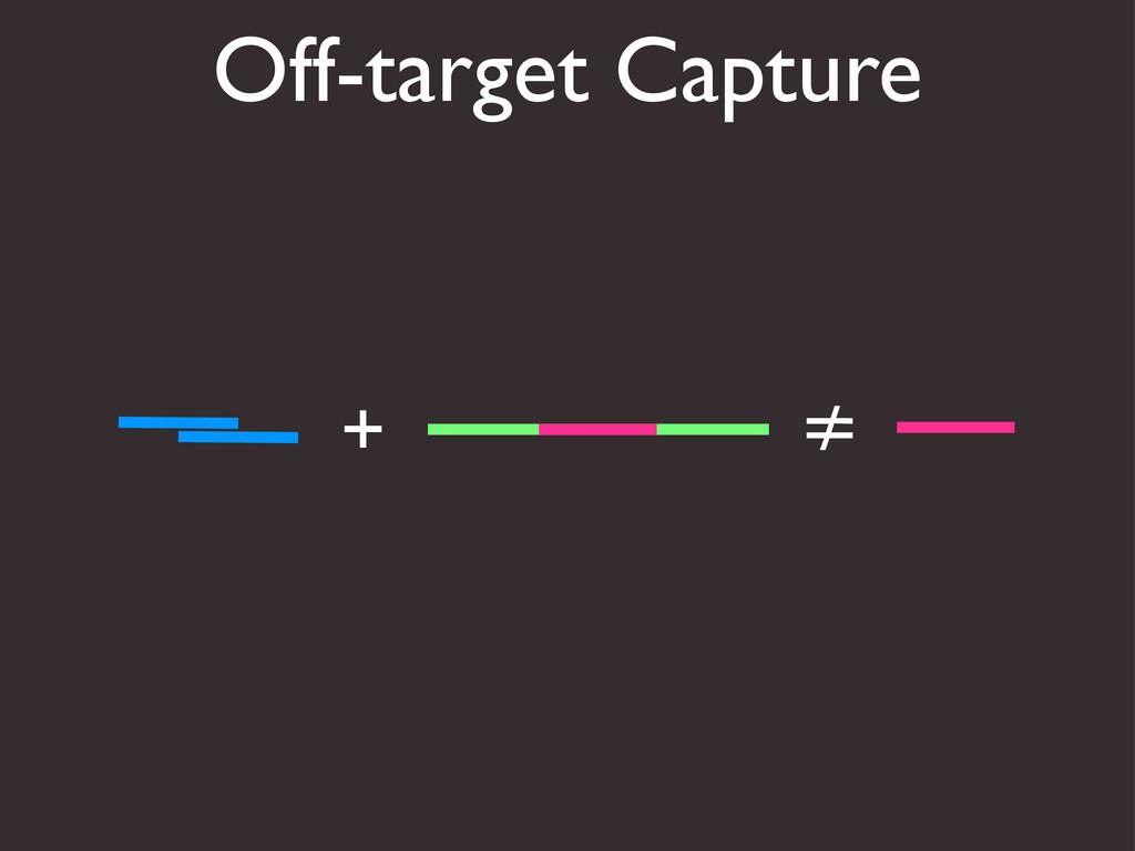 Off-target Capture + ≠