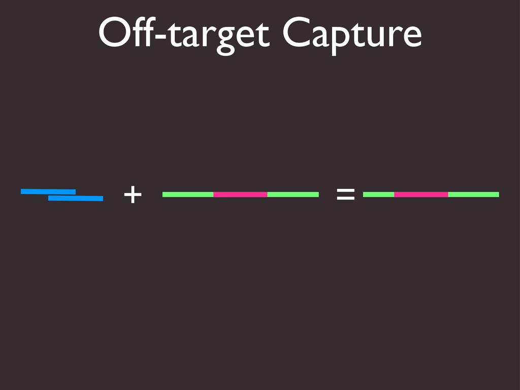 Off-target Capture + =