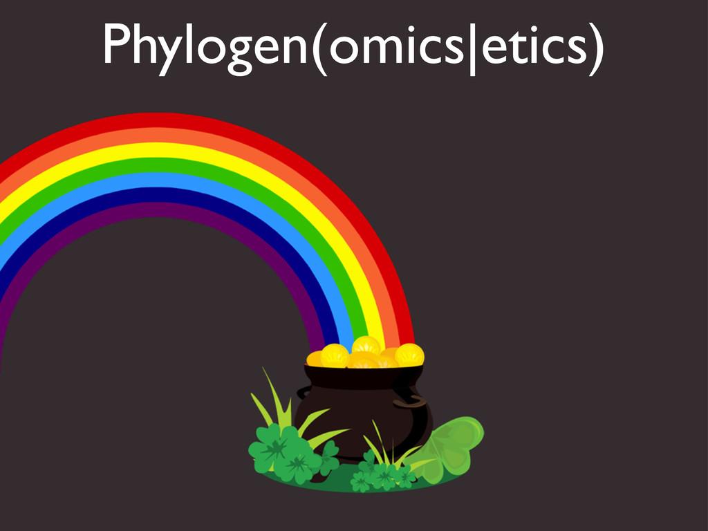 Phylogen(omics|etics)