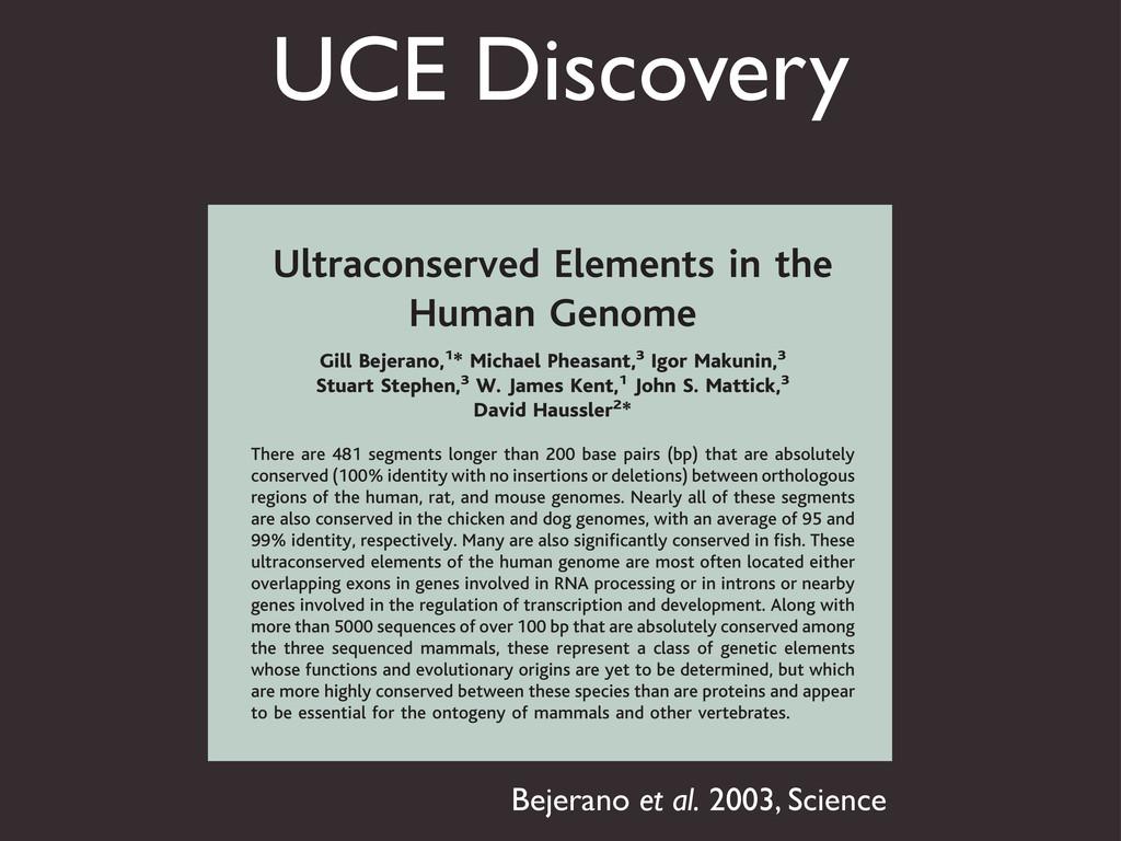 UCE Discovery 16. L. Shen, K. L. Rock, Proc. Na...