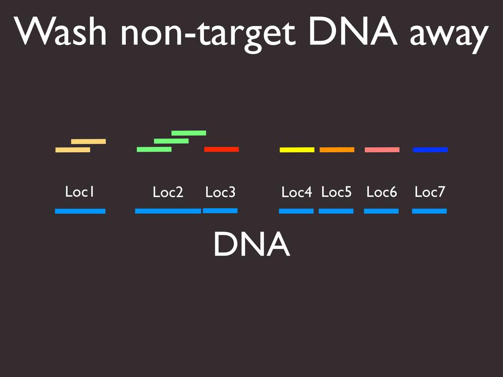 Wash non-target DNA away DNA Loc1 Loc2 Loc3 Loc...