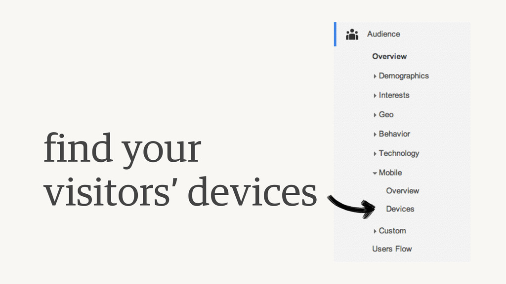 find your visitors' devices