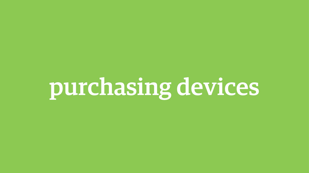 purchasing devices