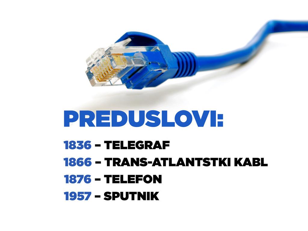 1836 – TELEGRAF 1866 – TRANS-ATLANTSTKI KABL 18...