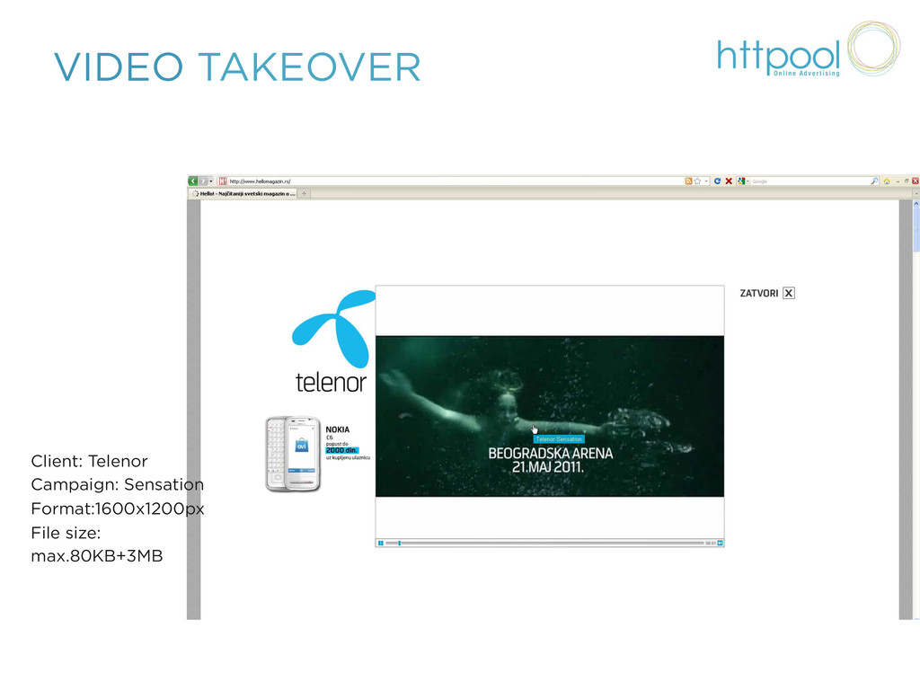 VIDEO TAKEOVER Client: Telenor Campaign: Sensat...