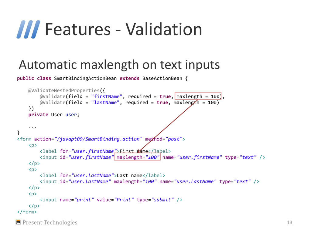 Features - Validation Automatic maxlength on te...