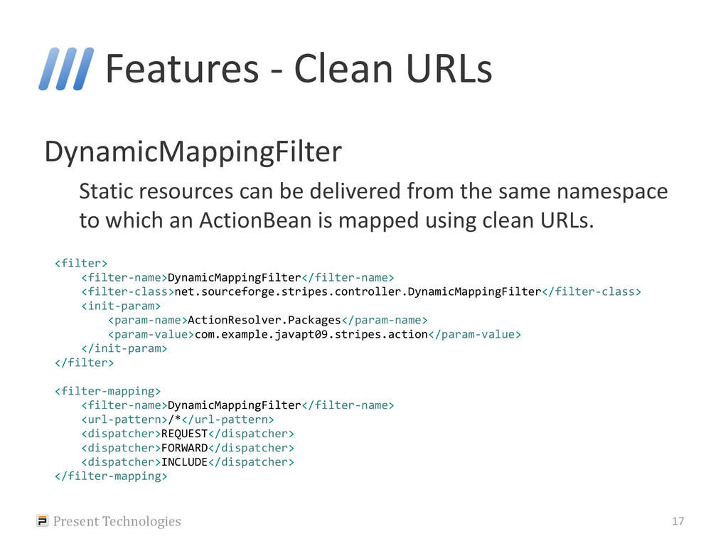 Features - Clean URLs DynamicMappingFilter Stat...