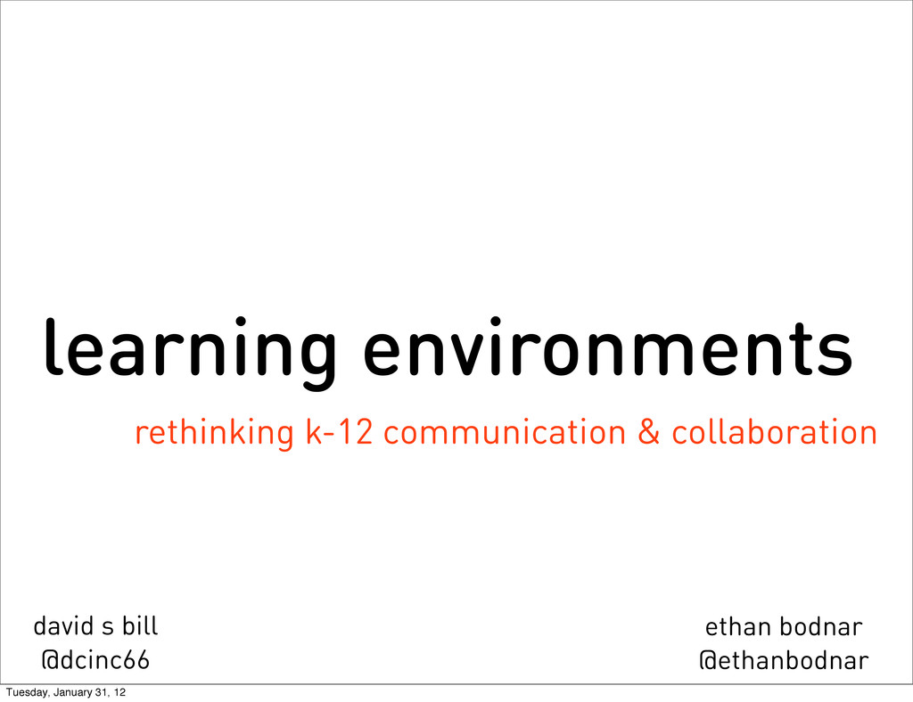 learning environments rethinking k-12 communica...
