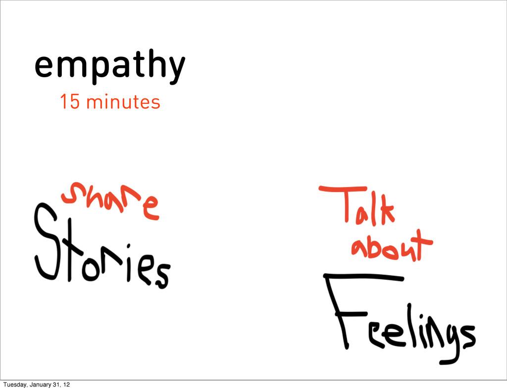 empathy 15 minutes Tuesday, January 31, 12