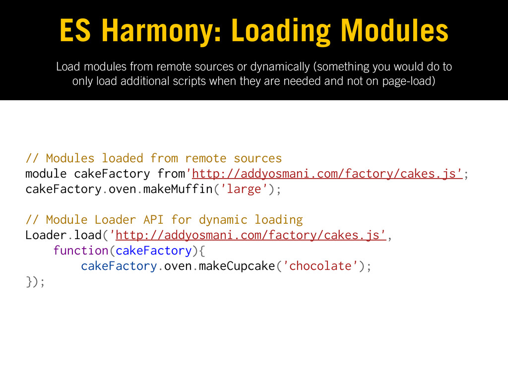 Load modules from remote sources or dynamically...
