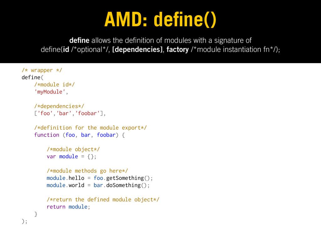 de ne allows the de nition of modules with a si...