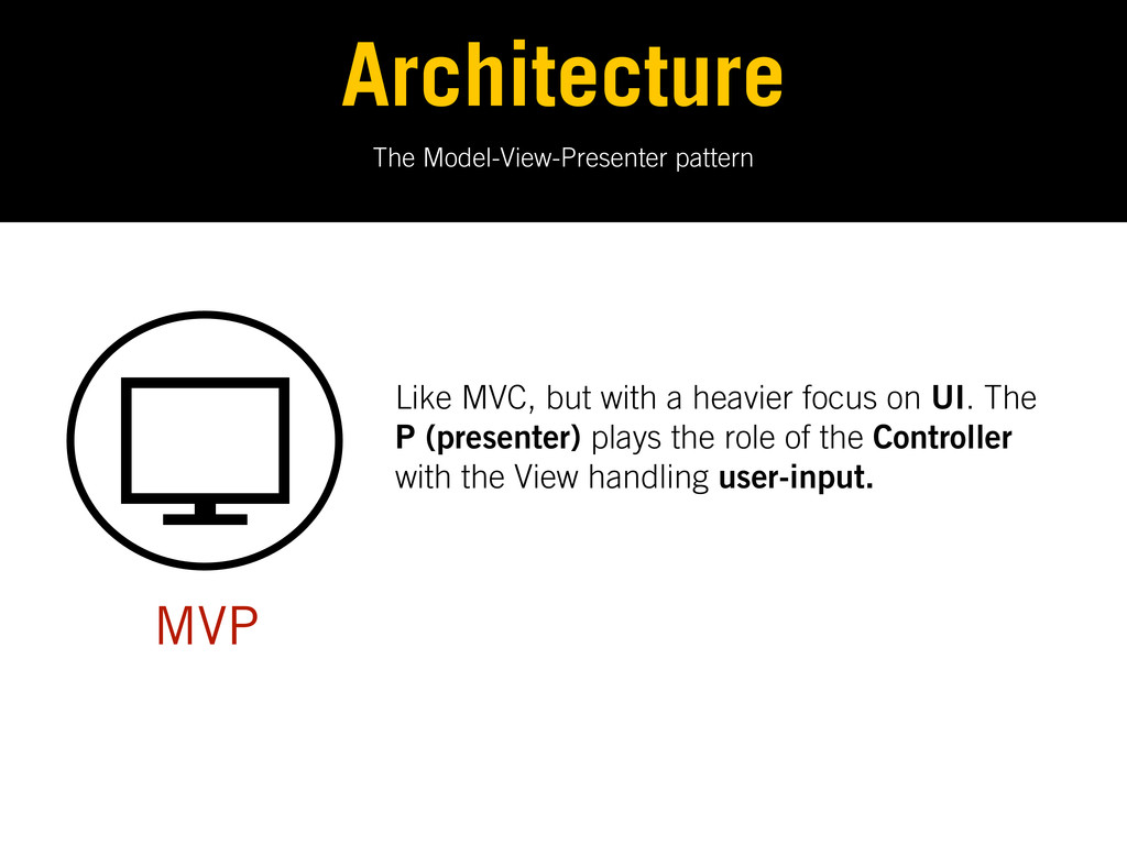 The Model-View-Presenter pattern Architecture M...