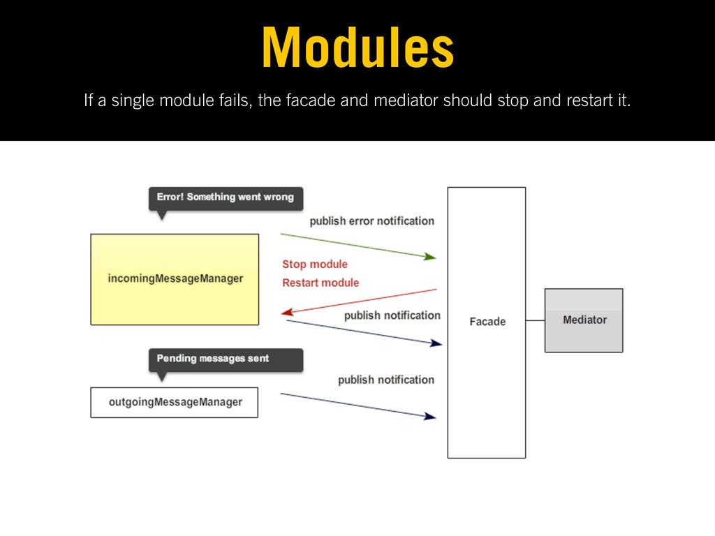 If a single module fails, the facade and mediat...
