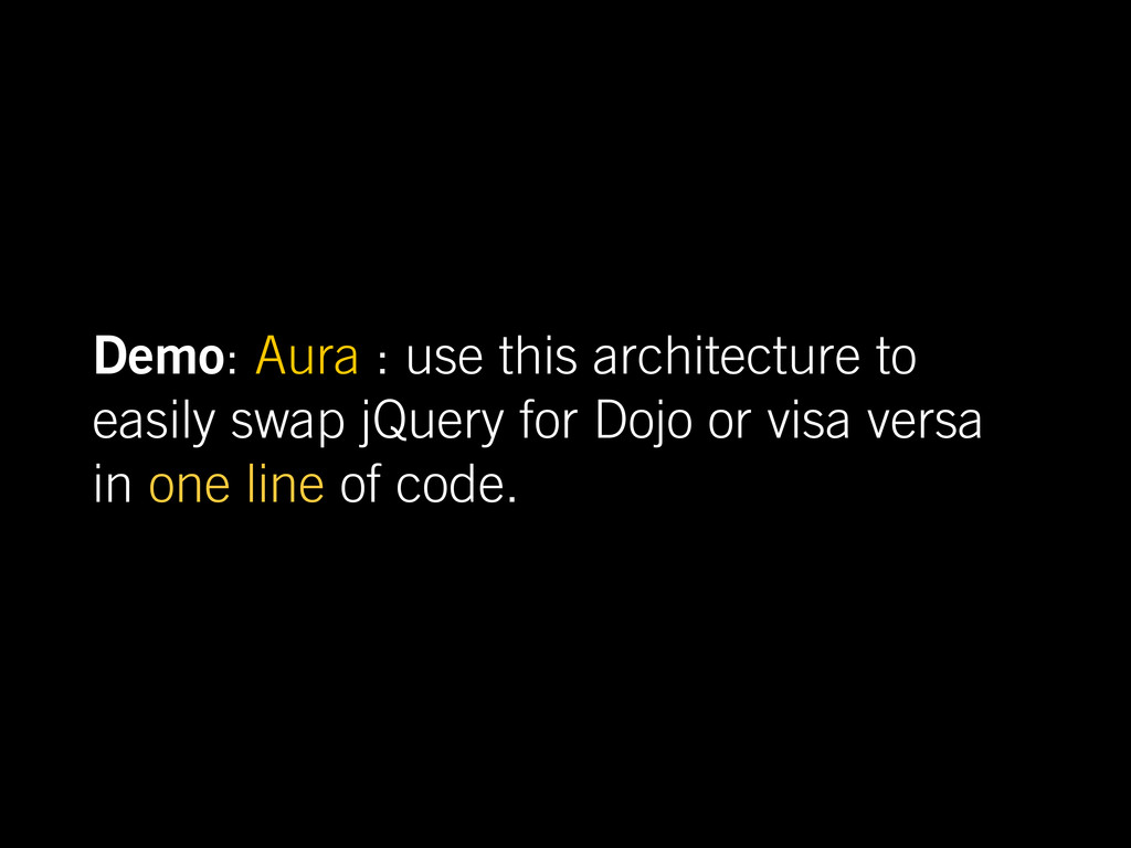 Demo: Aura : use this architecture to easily sw...