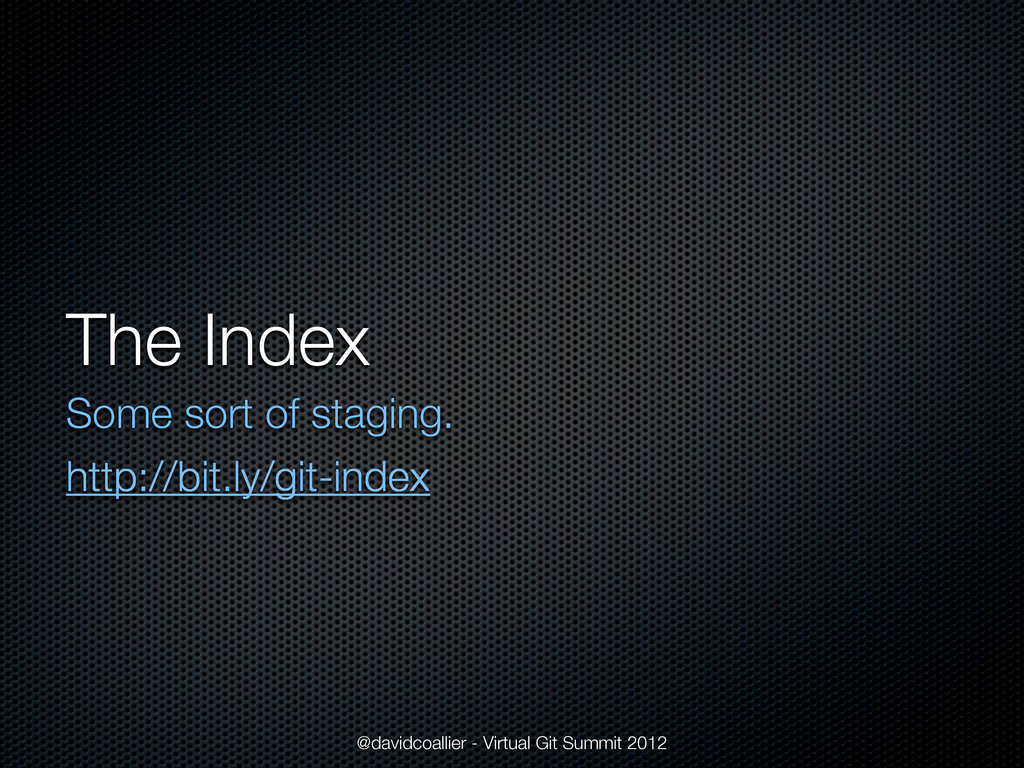 The Index Some sort of staging. http://bit.ly/g...