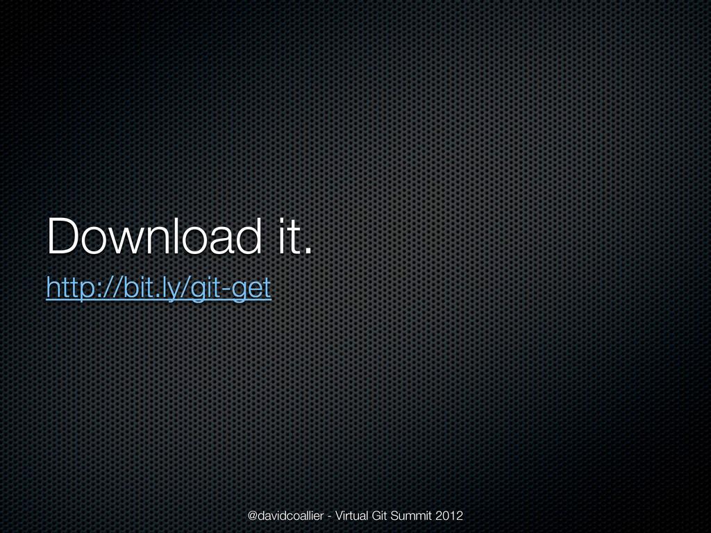 Download it. http://bit.ly/git-get @davidcoalli...