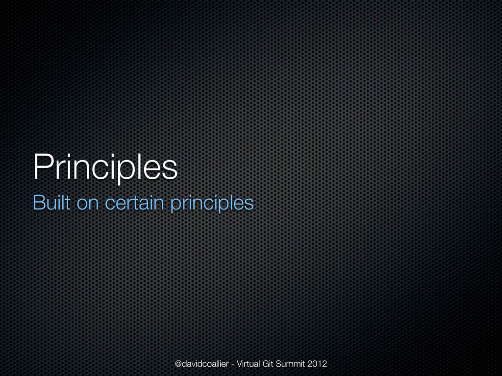 Principles Built on certain principles @davidco...